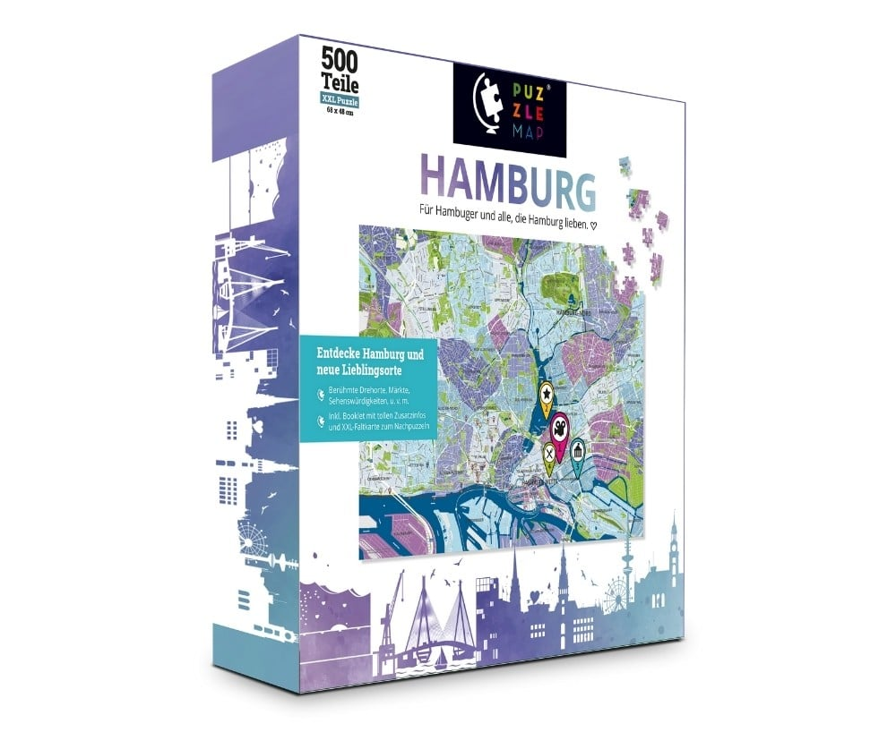 PuzzleMap Hamburg Puzzle Box vorne